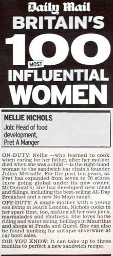 Nellie's feature in the Daily Mail