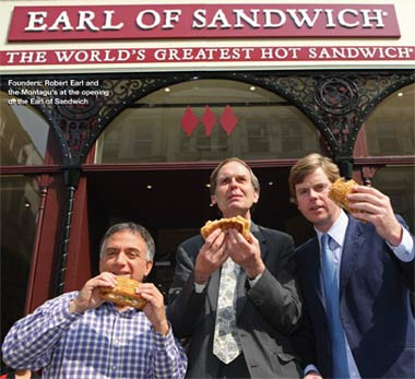 Opening of the Earl of Sandwich Restaurant