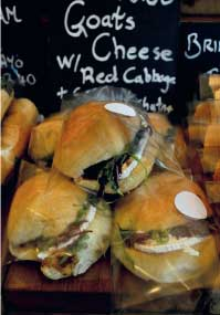 Goats cheese sandwiches