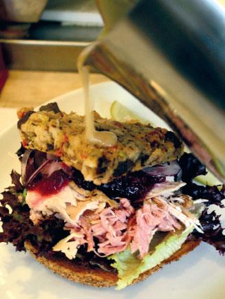 Pickle & Rye open sandwich