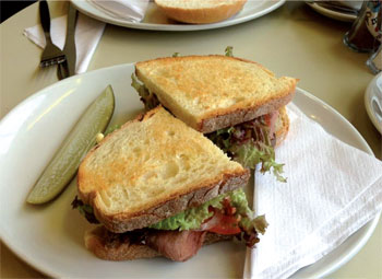 Pickle & Rye toasted sandwich