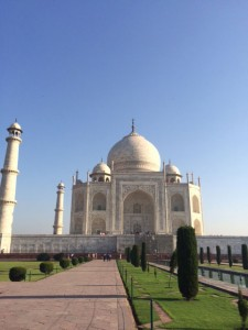 Taj Mahal in blue sky
