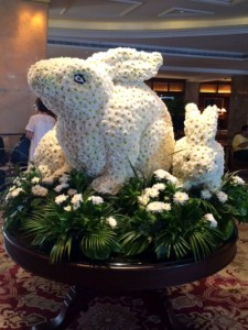 Easter Flower Rabbit at the Taj Mahal
