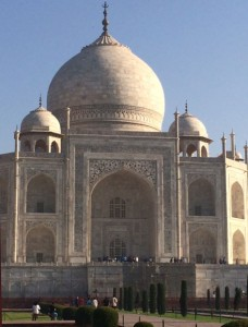Light on the Taj Mahal