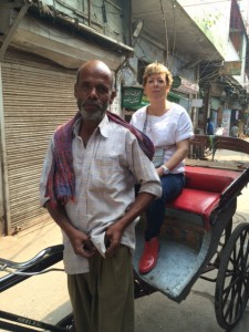 Nellie on a rickshaw