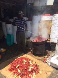 Food roasting in the street