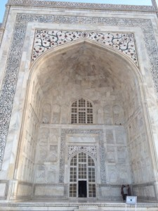 Taj Mahal marbled entrance