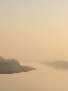 Yamuna river at dawn