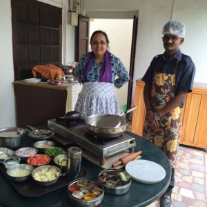 Usha and sous chef