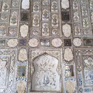 Marble inlaid walls