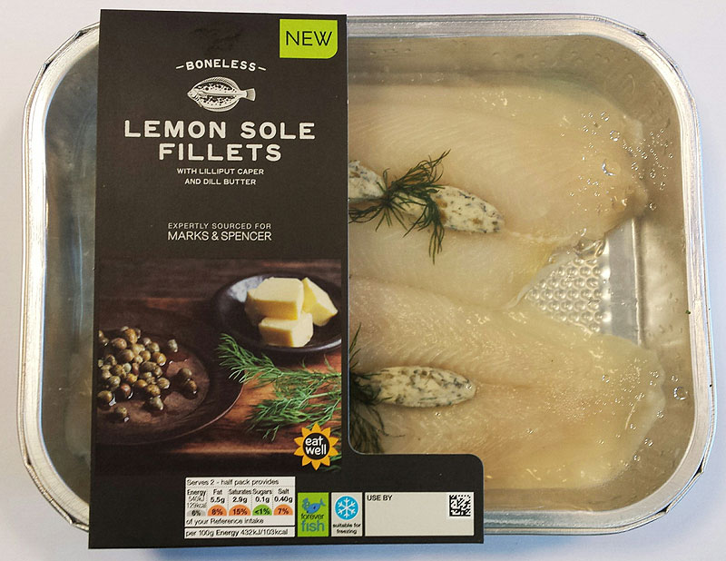 Food Product Development, Lemon Sole fillets